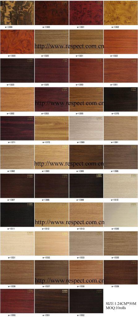 Wooden pvc film / Grainy pvc membrane