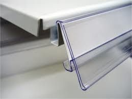 Supermarket plastic PVC price tags holder