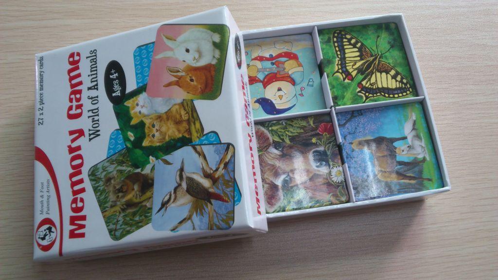 Paper memory game card