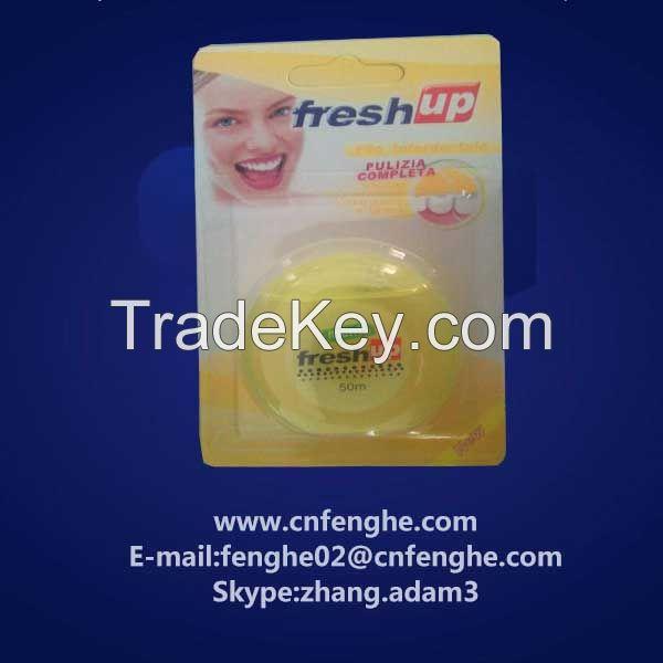 50m mint flavor circle shape dental floss