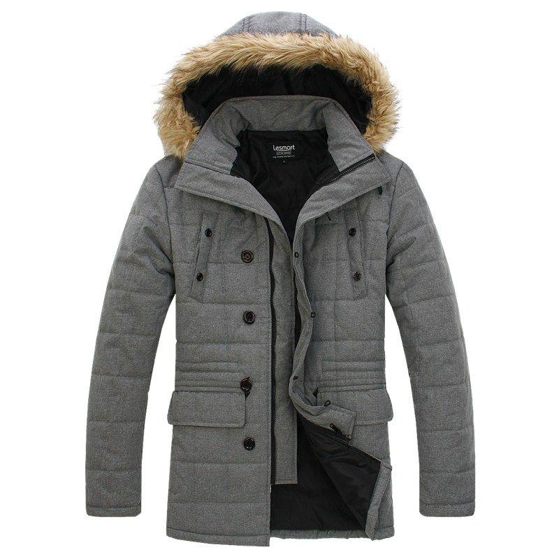 Men's Fashion Garment with Detachable Hood