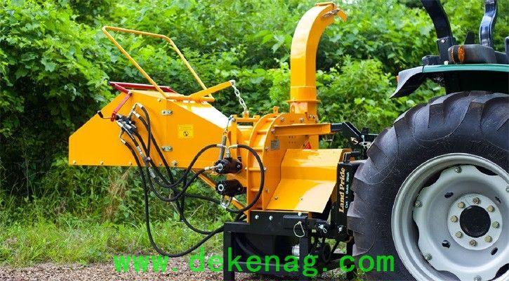 TB-8H hydraulic feed wood chipper