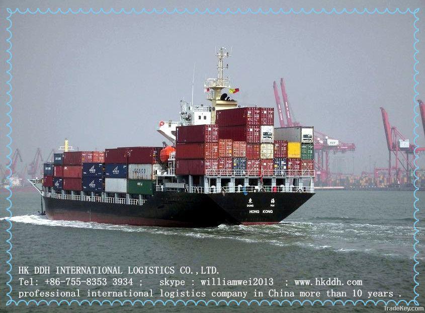 sea freight and logistics service ningbo to india