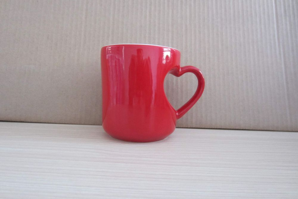 Heart Shaped Ceramic Coffee Mug (WSY897M)