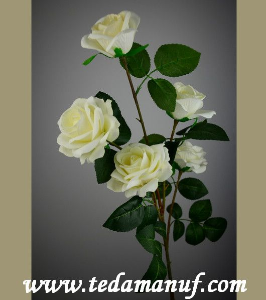 110cm 5 heads artificial flower rose branch