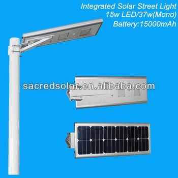 8w/12w/15w/20w/25w/30w/40w All In One Solar Led Street Light