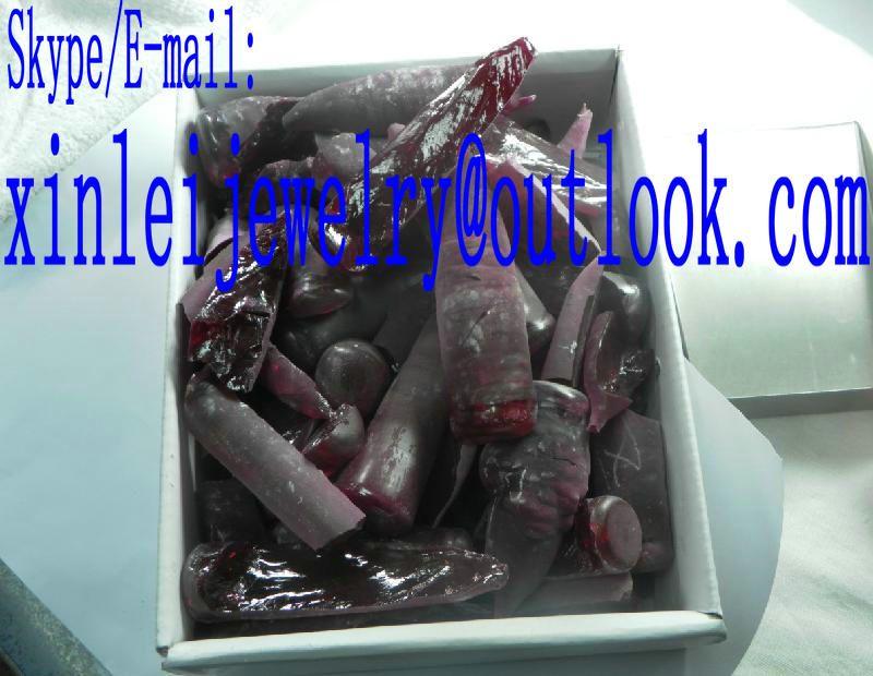 Corundum scrap material Grade C F raw material rupture Ruby material