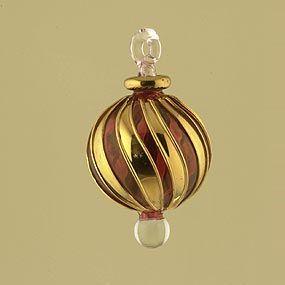 Blown Glass Egyptian Christmas Ornament