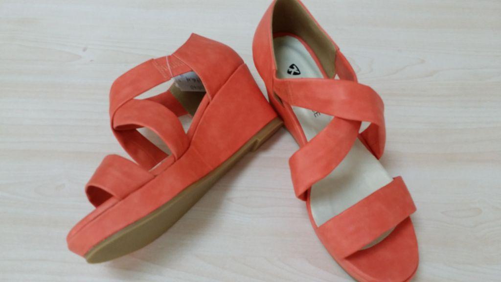 bright-color for ladies sandal wedge sandal