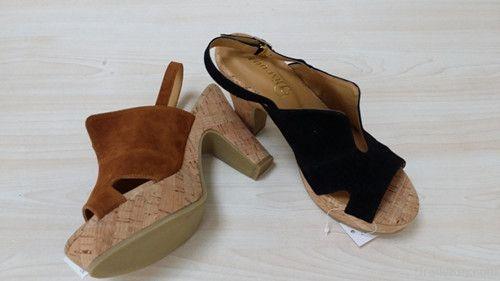 New design fashion ladies rough heels shoes