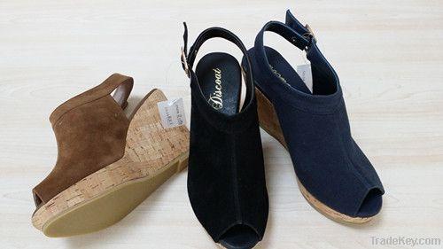 ladies wedge heel shoes simple design and comfortable
