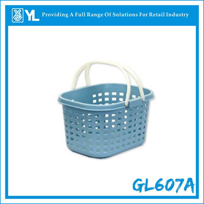 Plastic shopping basket for supermarke