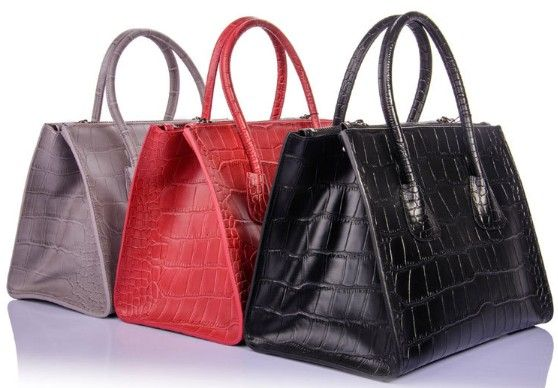 2013 Gordon Deall First Layer Genuine Cow Leather ZipperClaspHandbag Red, Black, Grey G058