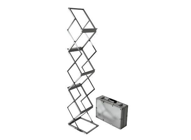 Collapsible Acrylic Aluminum Brochure Holder