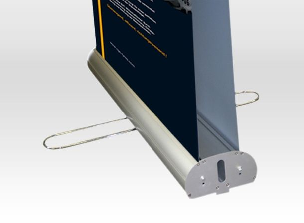 Double sided aluminum roll up banner stand