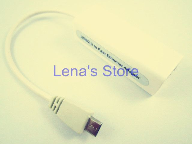 White Long 15cm 10M/100M Micro USB To RJ45 LAN Ethernet Network Adapter cable For Tablet PC(Android)