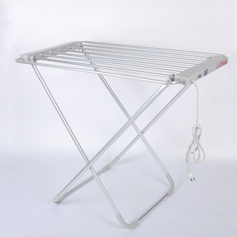 folding electric heated clothes drying rack
