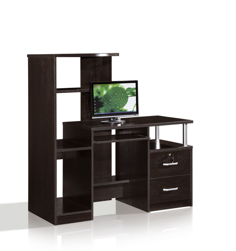 High Computer Table with Bookcase