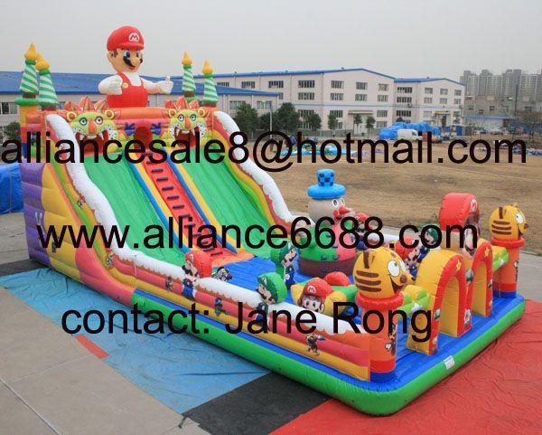 inflatable slide Super Mario Slide 14x7m