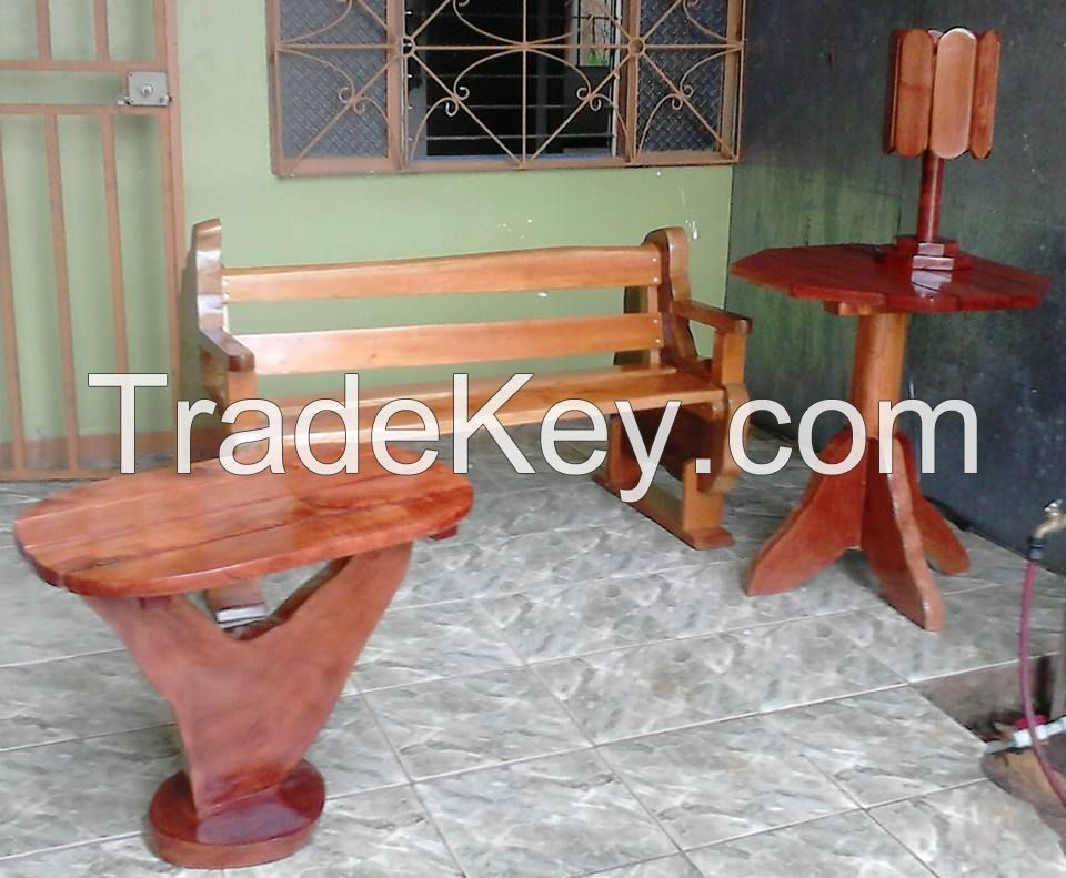 rustic wooden furniture