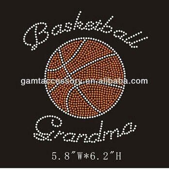 basketball rhinestone iron on transfer bling for tshirt