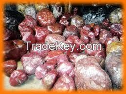 High Quality Cheap rough semi precious stones