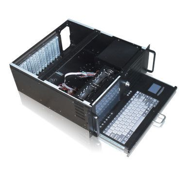 4u all in one industrial computer chassis with LCD