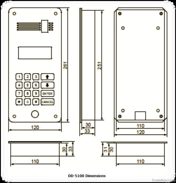 DD-5100 Digital Door phone system