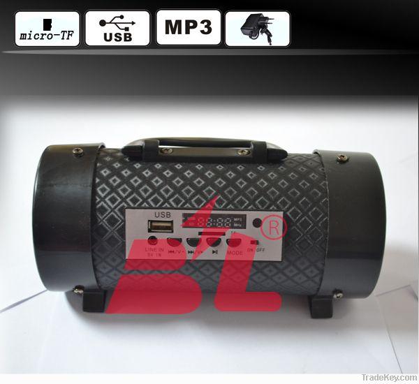 Round 3 inch 5V TF, USB, MP3 charging subwoofer