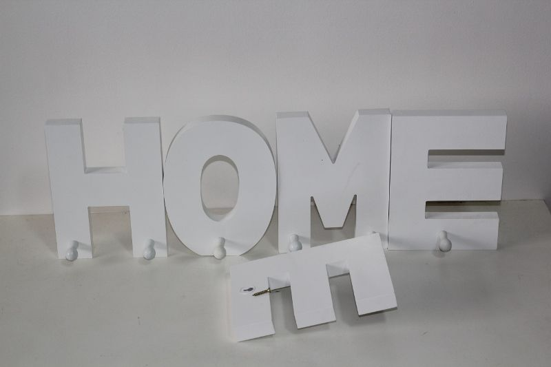 wooden letters wall hooks