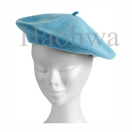 100% wool french beret hat