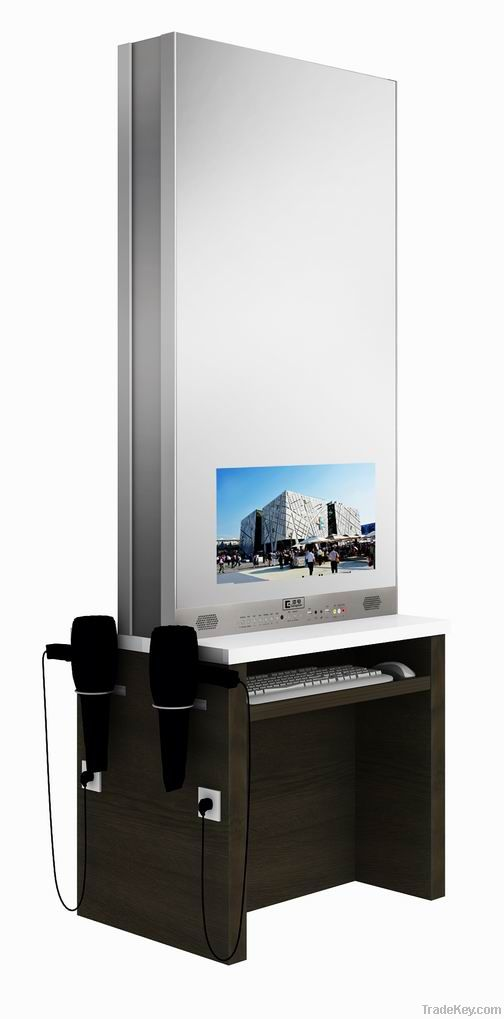 17 inch LED hair salon TV double sided table mirror
