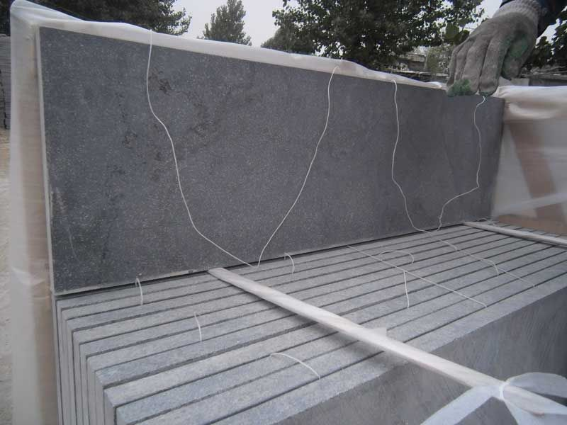 Blue limestone tiles for countertops,swimming pool tiles, paving,and sink