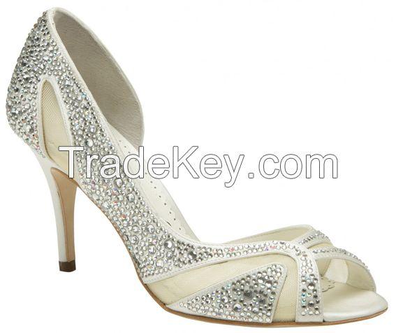 Women white wedding shoes bridal shoes