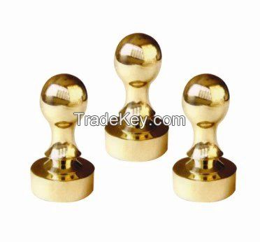 high quality and elegant metal handle stamp with customized logo
