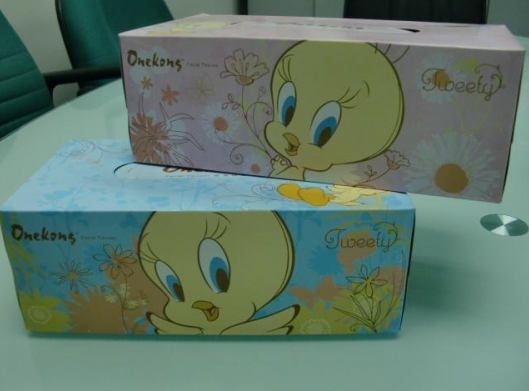 High Quality Pulp Box Facial Tissue