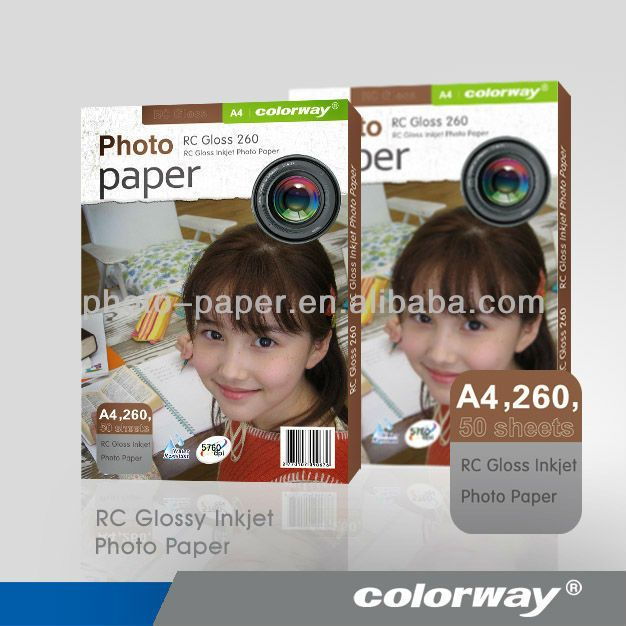 High glossy  inkjet photo paper A4 *50 240gsm