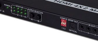 Full HDMI 1.4 4x2 Video Matrix with ARC function