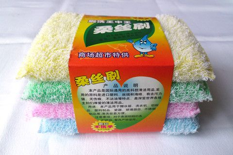 Kitchen cleaning sponge scourer