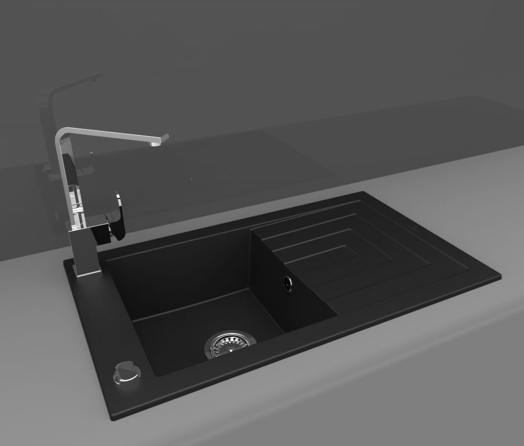 Granite sink AZZURO