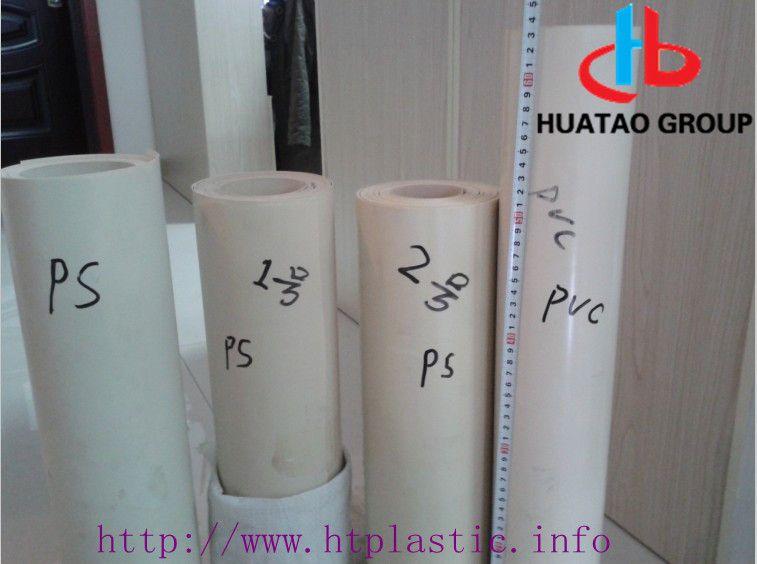 Beige  Flocked HIPS sheet rolls / flocky PS films for vacuumforming pack