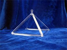 Crystal singing pyramid