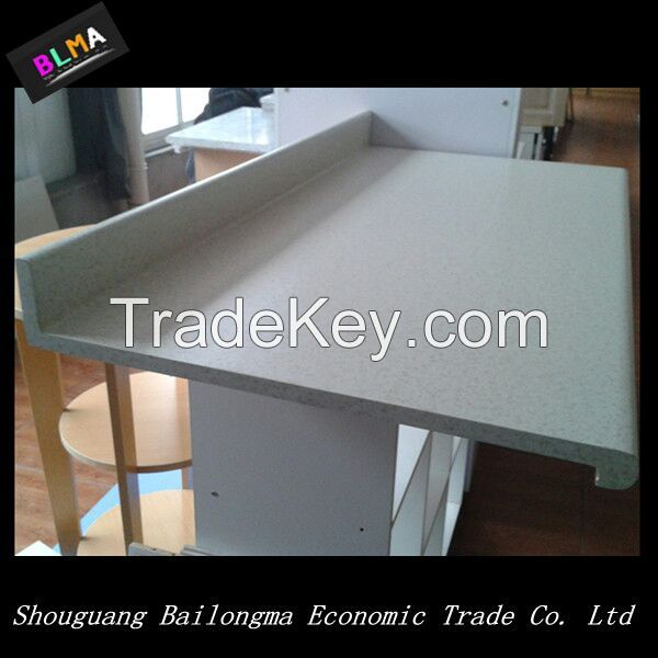 HPL laminated MDF or particle borad kitchen counter top/HPL table top/HPL worktop