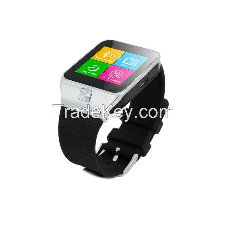 bluetooth 3.0 wrist smart watch phone with Facebook Twiter e-mail and calendar reminders function