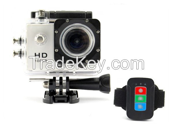 (UC10) 30 meter waterproof sport camcorder action camera with remote control