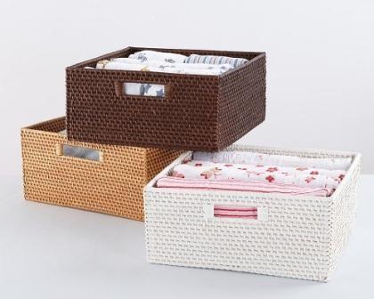 Rattan Basket Storage