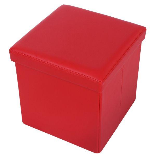 Portable folding storage stool ottoman