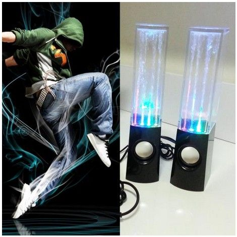 fashion style colorful LED Music fountain dancing water speaker