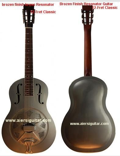 Aiersi Metal Body Tri-Cone Resonator Guitar