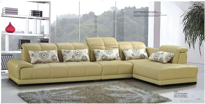 Genuine Leather Sofa New Designer Sofa Living Room Furniture Set